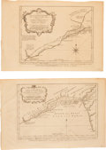 Books:Prints & Leaves, Collection of Four Engraved Maps of the Coast of Guinea. [N.p., ca.1746]. Four maps excised from a book. Three maps approxi... (Total:4 Items)