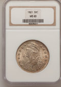 Bust Half Dollars: , 1821 50C MS63 NGC. NGC Census: (17/40). PCGS Population (20/21).Mintage: 1,305,797. Numismedia Wsl. Price for problem free...