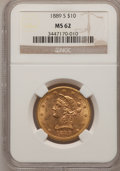 Liberty Eagles: , 1889-S $10 MS62 NGC. NGC Census: (390/109). PCGS Population(355/237). Mintage: 425,400. Numismedia Wsl. Price for problem ...