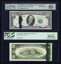Error Notes:Ink Smears, Fr. 2011-D* $10 1950A Federal Reserve Note. PCGS Choice About New58PPQ; Fr. 2020-G $10 1969B Federal Reserve Note. PMG Gem Un...(Total: 2 notes)