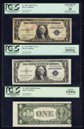 Error Notes:Error Group Lots, Fr. 1607 $1 1935 Silver Certificate. PCGS Apparent Very Fine 20;Fr. 1613N $1 1935D Narrow Silver Certificate. PCGS About New ...(Total: 3 notes)