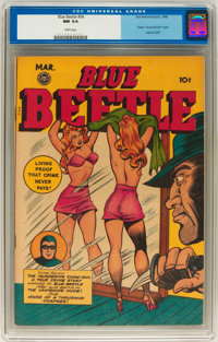 Blue Beetle #54 (Fox Features Syndicate, 1948) CGC NM 9.4 White pages