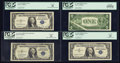 Error Notes:Error Group Lots, A Quartet of Silver Certificate Errors.. ... (Total: 4 notes)