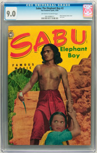"Sabu, ""Elephant Boy"" #2 (Fox Features Syndicate, 1950) CGC VF/NM 9.0 Off-white to white pages"