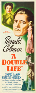 "Movie Posters:Film Noir, A Double Life (Universal International, 1947). Insert (14"" X 36"")....."