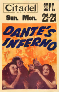 "Dante's Inferno (Fox, 1935). Window Card (14"" X 22"")"