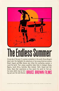 "The Endless Summer (Cinema 5, 1966). Poster (11"" X 17"")"