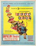"Movie Posters:Documentary, Cinerama Holiday (Cinerama Releasing, 1955). Trolley Card (22"" X28"").. ..."