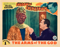 """Shadow of Chinatown (Victory, 1936). Lobby Card (11"""" X 14""""). Episode 1--""""The Arms of the God."""""""
