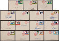 Baseball Collectibles:Others, Baseball Stars Signed Envelopes Lot of 25....