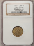Civil War Patriotics, 1863 Token Our Country Token MS66 NGC. F-1/229 B....