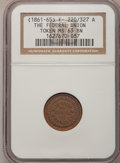 Civil War Patriotics, (1861-65) Token The Federal Union / Army and Navy Token MS63 BrownNGC. F- 220/327 A....