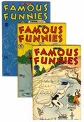 Golden Age (1938-1955):Miscellaneous, Famous Funnies Group (Eastern Color, 1945-46) Condition: Average VF+.... (Total: 8 Comic Books)