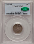 Seated Dimes: , 1849-O 10C XF45 PCGS. CAC. PCGS Population (8/35). NGC Census:(3/42). Mintage: 300,000. Numismedia Wsl. Price for problem ...