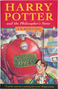 Books:Children's Books, J. K. Rowling. Harry Potter and the Philosopher's Stone.[London]: Bloomsbury, [1997].. First edition, first p...