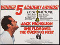 "Movie Posters:Academy Award Winners, One Flew Over the Cuckoo's Nest (United Artists, 1975). BritishQuad (30"" X 40""). Academy Award Winners.. ..."