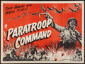 "Movie Posters:War, Paratroop Command (American International, 1959). British Quad (30""X 40""). War.. ..."