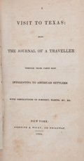 Books, [M. Fiske (attributed)]: A Visit to Texas, Being the Journal ofa Traveller Through Those Parts Most Interesting to Amer...