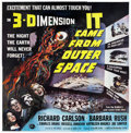 "Movie Posters:Science Fiction, It Came from Outer Space (Universal International, 1953). Six Sheet(81"" X 81""). 3-D Style.. ..."