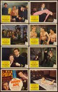 "Movie Posters:Drama, The Hairy Ape (United Artists, 1944). Lobby Card Set of 8 (11"" X14""). Drama.. ... (Total: 8 Items)"
