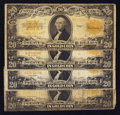 Large Size:Gold Certificates, Four Fr. 1187 $20 1922 Gold Certificates.. ... (Total: 4 notes)