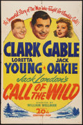 "Movie Posters:Adventure, The Call of the Wild (20th Century Fox, R-1943). One Sheet (27"" X41""). Adventure.. ..."