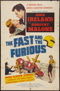 """Movie Posters:Action, The Fast and the Furious (American Releasing Corp., 1954). OneSheet (27"""" X 41""""). Action.. ..."""