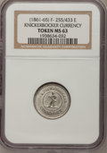 Civil War Patriotics, (1861-65) Token Knickerbocker Currency Token MS63 NGC. F-255/433E....