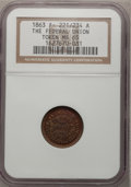 Civil War Patriotics, 1863 Token The Federal Union / Army and Navy Token MS65 NGC. F-221/234 A....