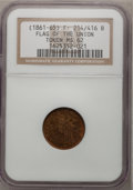 Civil War Patriotics, (1861-65) Token Flag Of Our Union / Shoot Him on the Spot TokenMS62 NGC. F- 214/416 B....