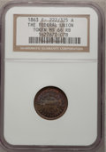 Civil War Patriotics, 1863 Token The Federal Union Token MS66 Red and Brown NGC.F-222/325 A....