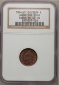Civil War Patriotics, 1864 Token Union For Ever Token MS65 Red and Brown NGC. F-54/343AA....