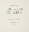 Books:Signed Editions, Dr. Ben K. Green. The Color of Horses. The Scientific andAuthoritative Identification of the Color of the Horse....