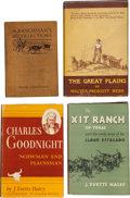 Books:First Editions, Four Books on Ranching History, including: Walter Prescott Webb.The Great Plains. Boston: Houghton Mifflin ... (Total: 4Items)