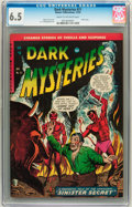 Golden Age (1938-1955):Horror, Dark Mysteries #21 (Master Publications, 1954) CGC FN+ 6.5 Cream tooff-white pages....