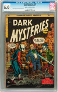 Golden Age (1938-1955):Horror, Dark Mysteries #20 (Master Publications, 1954) CGC FN 6.0 Cream tooff-white pages....