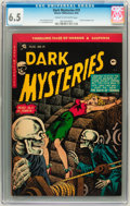 Golden Age (1938-1955):Horror, Dark Mysteries #19 (Master Publications, 1954) CGC FN+ 6.5 Cream tooff-white pages....