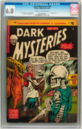 Golden Age (1938-1955):Horror, Dark Mysteries #18 (Master Publications, 1954) CGC FN 6.0 Cream tooff-white pages....
