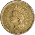 1858 P1C Indian Cent, Judd-208, Pollock-259, R.1, MS62 ANACS. The obverse has the date centered rather than low with the...