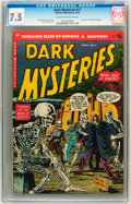 Golden Age (1938-1955):Horror, Dark Mysteries #17 (Master Publications, 1954) CGC VF- 7.5 Cream tooff-white pages....