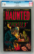 Golden Age (1938-1955):Horror, Haunted Thrills #9 (Farrell, 1953) CGC FN/VF 7.0 Off-whitepages....