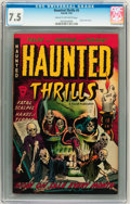 Golden Age (1938-1955):Horror, Haunted Thrills #5 (Farrell, 1953) CGC VF- 7.5 Cream to off-whitepages....