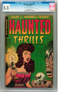 Golden Age (1938-1955):Horror, Haunted Thrills #1 (Farrell, 1952) CGC FN- 5.5 Cream to off-whitepages....