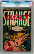 Golden Age (1938-1955):Horror, Strange Fantasy #7 (Farrell, 1953) CGC FN- 5.5 Cream to off-whitepages....