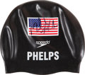 Miscellaneous Collectibles:General, 2008 Michael Phelps Swim Cap Worn as He Won Eighth Olympic Gold Medal....