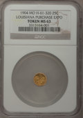 Expositions and Fairs, 1904 Token 25 Cents, Missouri, Louisiana Purchase Expo Token MS63 NGC. H-61-320....