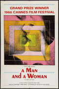 "Movie Posters:Romance, A Man and a Woman (Allied Artists, 1966, R-1968). One Sheets (2) (27"" X 41""). Romance.. ... (Total: 2 Items)"