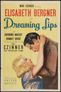 """Movie Posters:Drama, Dreaming Lips (United Artists, 1937). One Sheet (27"""" X 41""""). Drama.. ..."""