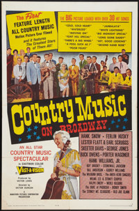 "Country Music on Broadway (Marathon Pictures, 1965). One Sheet (27"" X 41""). Musical"