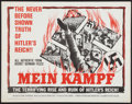 "Movie Posters:Documentary, Mein Kampf (Columbia, 1961). Half Sheet (22"" X 28""). Documentary.. ..."
